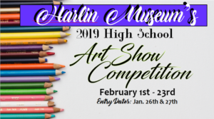 AWARDS RECEPTION: High School Art Show Competition @ Harlin Museum - Hathcock Gallery, Main Level
