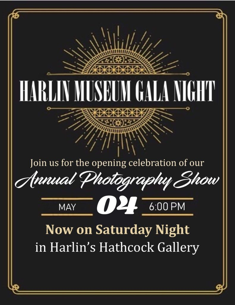 Gala Night @ the Museum: Harlin's Annual Photo Show @ Harlin Museum - Hathcock Gallery, Upper Level