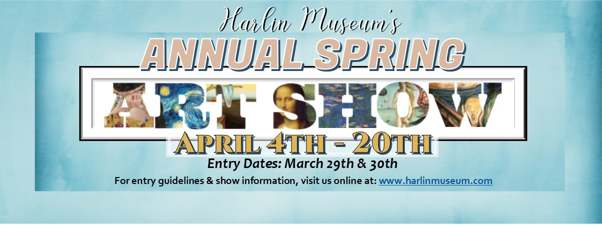 AWARDS RECEPTION: 44th Annual Spring Art Show Competition @ Harlin Museum - Hathcock Gallery, Upper Level