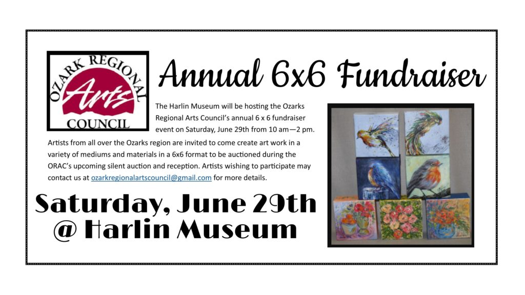 Open Pallette - ORAC 6x6 Fundraiser @ Harlin Museum; Lower Level, Classroom Space