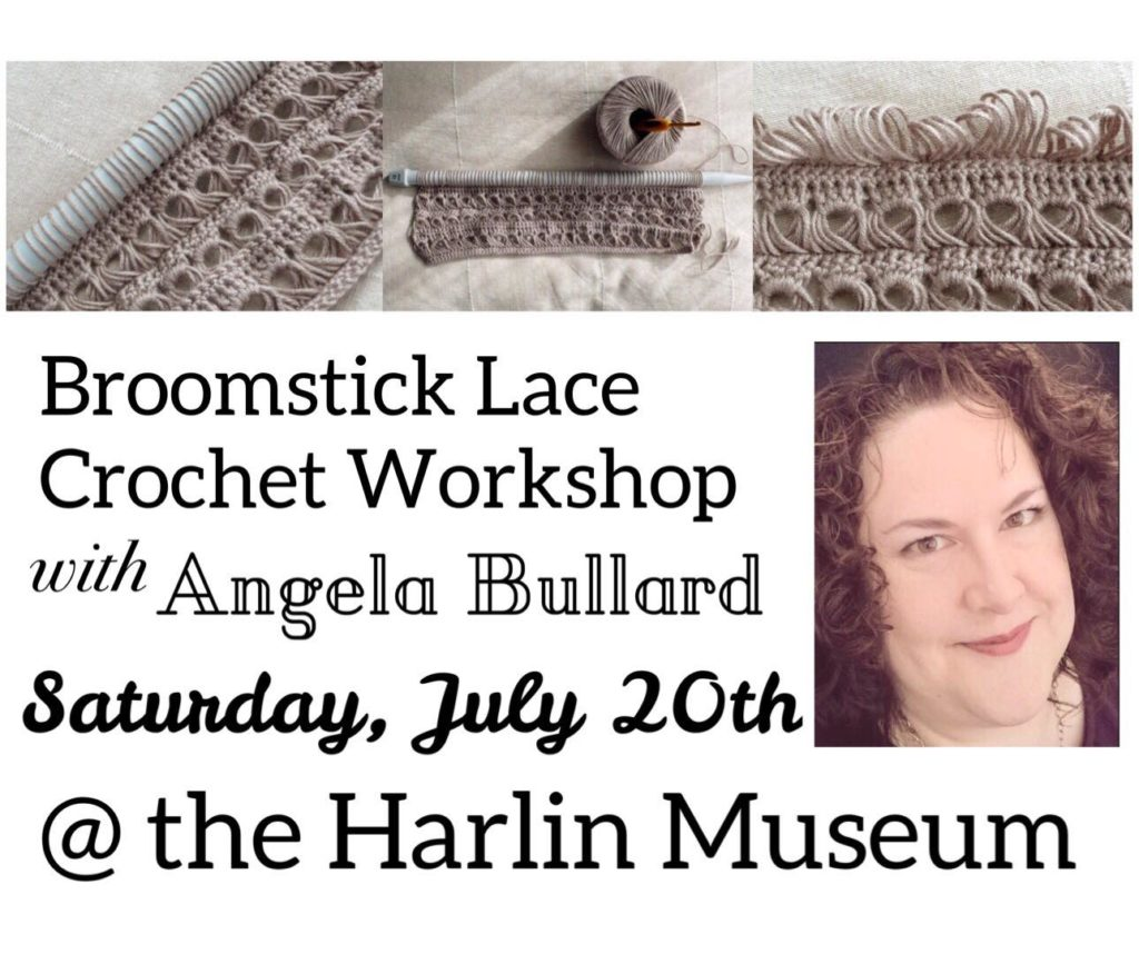 Broomstick Lace Crochet Workshop with Angela Bullard @ Harlin Museum; Lower Level, Classroom Space