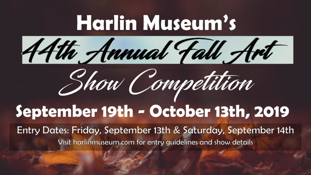 Harlin Museum's 44th Annual Fall Art Show @ Harlin Museum; Upper Level, Hathcock Gallery