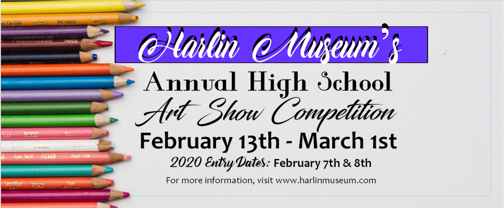 Annual High School Art Show Competition & Young Artist Showcase @ Harlin Museum; Upper Level, Hathcock Gallery
