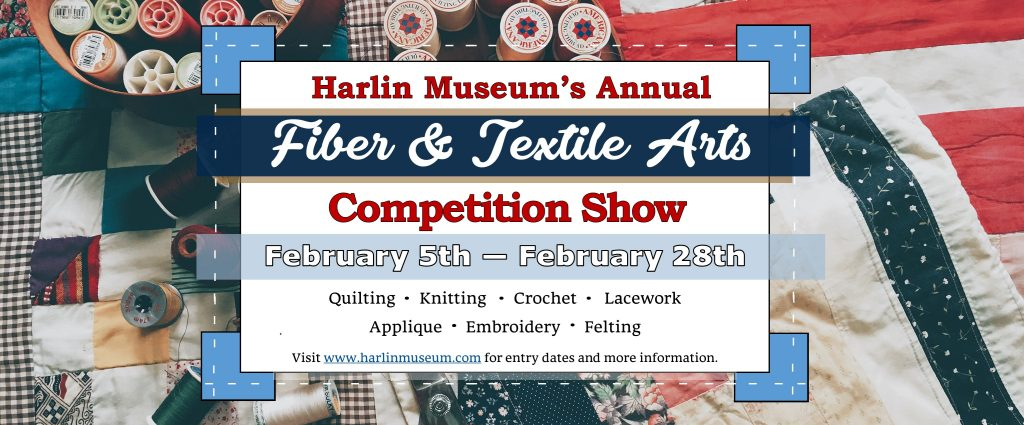 2021 Fiber & Textile Arts Competition Show @ Harlin Museum; Upper Level, Hathcock Gallery